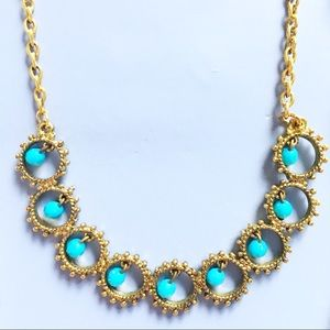 — Icing — Gorgeous Gold & Turquoise Necklace